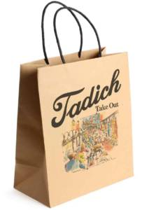 Tadich Grill takeout bag