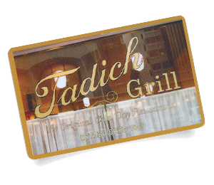 Tadich Grill business card